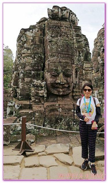 吳哥窟旅遊,大吳哥城,大吳哥城巴戎寺Bayon,柬埔寨,柬埔寨旅遊 @傑菲亞娃JEFFIA FANG