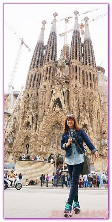 南歐西班牙,巴塞隆納,景點,聖家堂SAGRADA FAMILI,西班牙旅遊 @傑菲亞娃JEFFIA FANG