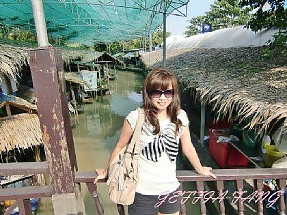 傳統市場/水上市場,曼谷傳統水上市場,泰國,泰國旅遊,泰國曼谷自由行 @傑菲亞娃JEFFIA FANG