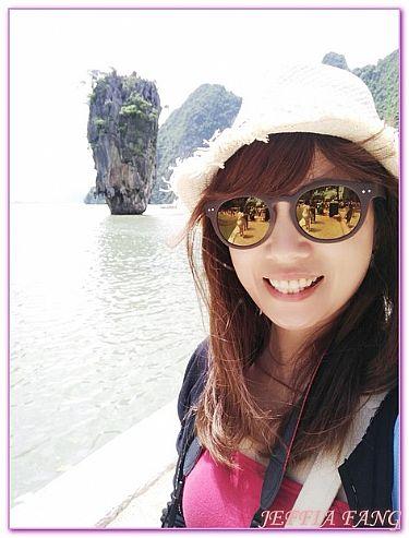 一線天平干島達普島007島,普吉攀牙灣,景點,泰國,泰國旅遊 @傑菲亞娃JEFFIA FANG